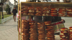 Pastry Stand in ISTANBUL, TURKEY Stock Footage