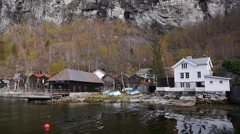 The village of Geiranger, Norway Stock Footage