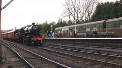 Steam train travel train transport railway Stock Footage