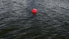 Red buoy Stock Footage