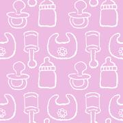 Baby pattern for girl Stock Illustration