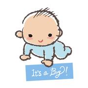 Baby shower concept- it's a boy! Stock Illustration