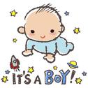 Stock Illustration of Baby shower concept- it's a boy!