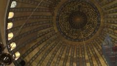 The Central Dome of the Hagia Sophia ISTANBUL, TURKEY Stock Footage