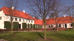 The Karen Blixen Museum, Rungstedlund, on a sunny spring day Stock Footage