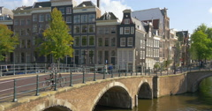 Amsterdam is the capital and most populous city in Netherlands - stock footage
