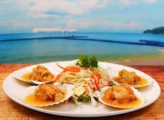 Baked shellfish Stock Photos