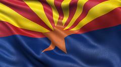 US state flag of Arizona Stock Photos