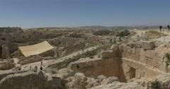 Herodion Herods palace 4K Stock Footage