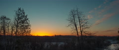 Countryside Sunrise 6K Cinemascope Anamorphic Stock Footage