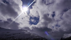 The sun in the mountains, Norway Stock Footage