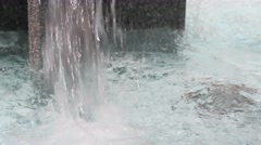 Water fountain in the spring Stock Footage