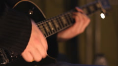 Guitarist playing pop music Stock Footage