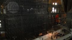Inside the Hagia Sofia in ISTANBUL, TURKEY Stock Footage