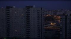 residential areas of Saint-Petersburg timelapse - stock footage