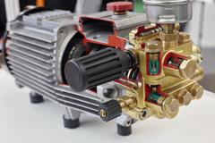 Opened electric motor Stock Photos