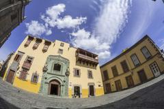 Columbus House in Las Palmas de Gran Canaria - stock photo
