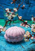 fragrant marshmallows - stock photo