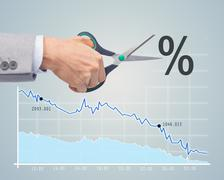 financial and economical crisis concept - stock photo
