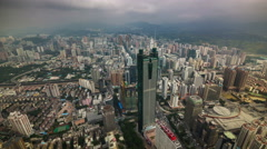 shenzhen city high tower day light view 4k time lapse china - stock footage