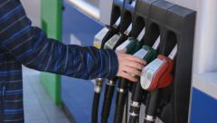 Worker at Gas fuel  Pump Station Arkistovideo