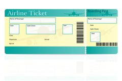 Stock Illustration of airline ticket vector illustration