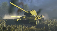 Legendary Russian Tank T 34 Close-up - stock footage