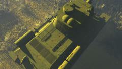 Russian Tank T 34 Top view - stock footage