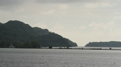 Scenic Angle of Water and Land in PALAU Stock Footage