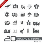 Industryand Logistics Icons // Basics - stock illustration