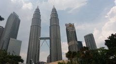Timelapse of KLCC During Daylight Stock Footage