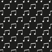 Black music seamless pattern Stock Illustration