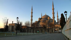 Soft Light Falls on the Blue Mosque ISTANBUL, TURKEY Stock Footage