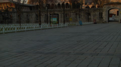 Tilting Up to the Blue Mosque During Sunrise ISTANBUL, TURKEY Stock Footage