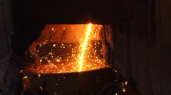Sparks from molten metal Stock Footage
