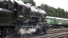 Steam train travel train transport railway - stock footage