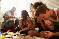 Gang Of Young People Taking Drugs Stock Photos