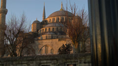 The Magnificent Blue Mosque ISTANBUL, TURKEY Stock Footage