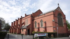 English church (Red Brick) Stock Footage