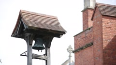English church bell (red brick) Stock Footage