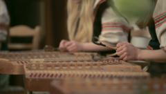 Cimbalom, concert hammered dulcimers. Close up Stock Footage