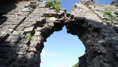 Old ruined Christian church in Abkhasia. 8th century04 Stock Footage