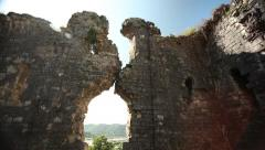 Old ruined Christian church in Abkhasia. 8th century 06 Stock Footage