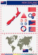 Vector New Zealand illustration country nation national culture concept Stock Illustration