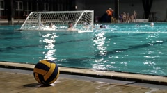 Ball On The Edge Of The Pool, Final Action Before The End Of The Game Stock Footage
