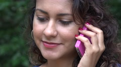 Woman Using Cell Phone Stock Footage