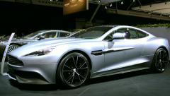 Aston Martin Vanquish sports car Stock Footage