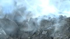 Smithy coal charcoal smoke Stock Footage