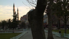 Hagia Sophia During Sunrise ISTANBUL, TURKEY Stock Footage