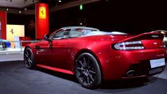 Aston Martin V12 Vantage S convertible sports car Stock Footage